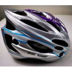 Sport Runner helmet lilac light blue for skating and cycling