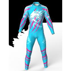 traje para patinaje natacion gimnasio pesas running para niñas niños hombres mujeres dragon force blue-fuchia