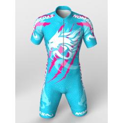licra para patinaje natacion gimnasio pesas running para niñas niños hombres mujeres dragon force blue-fuchia