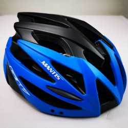 Helmet GW Mantis Black Blue Neon Skating and Cycling