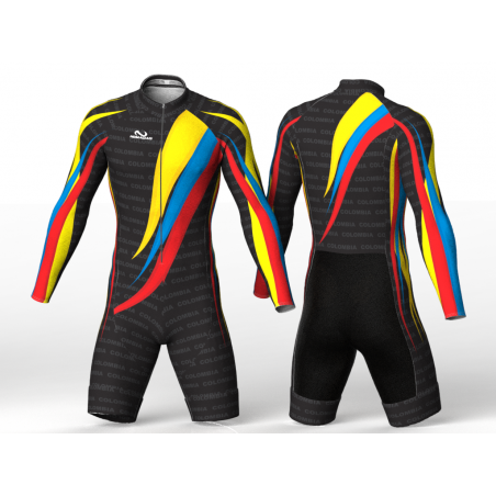 Colombia Olympic team black Lycra for skating