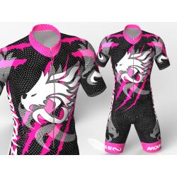 licra para patinaje dragon force fuchia-negro ,hermoso diseño agresivo y elegante para niños,niñas,hombres y mujeres