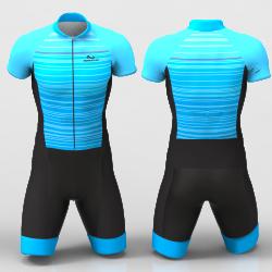 Blue Stripes Cycling Suit for women men boy girl