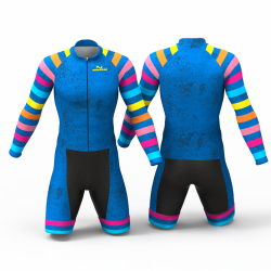 Blue rainbow Cycling Suit for women men boy girl