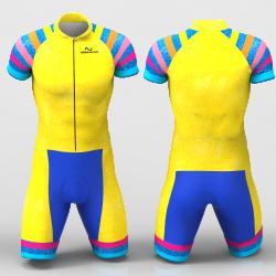 Yellow Rainbow Cycling Suit for women men boy girl