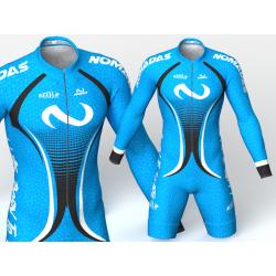 licra de patinaje Evolution azul nomadas,hermoso y elegante diseño para niños,niñas,hombres y mujeres