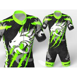 licra para patinaje dragon force verde neon-negro ,hermoso diseño agresivo y elegante para niños,niñas,hombres y mujeres