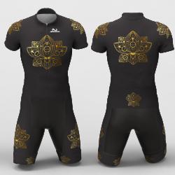 Mandala gold Cycling Suit for women men girls boys