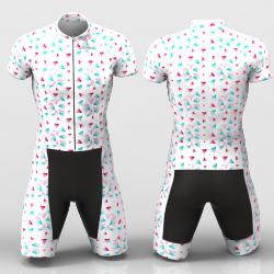 Sandia white Cycling Suit for women men girls boys