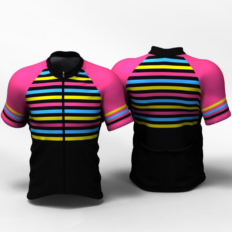 STRIPES ENTERIZO Camiseta jersey de ciclismo para mujer y hombre nomadas