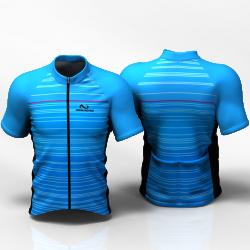 STRIPES BLUE ENTERIZO Camiseta jersey de ciclismo para mujer y hombre nomadas