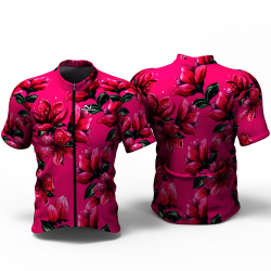 RED BLOSSOM fuchsia Jersey for women men