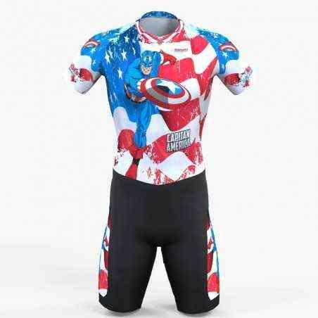 American captain inline skating suit