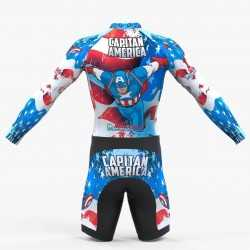 American captain inline skating suit