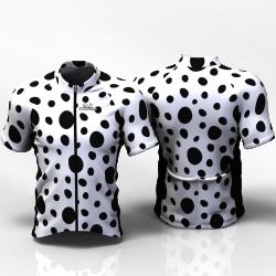 BLACK DOTS Cycling Jersey for women men boys girls