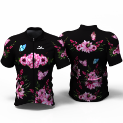 PINK PEONIES FLOWERS Cycling Jersey for women men girls boys