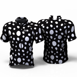 WHITE DOTS Cycling Jersey for women men boys girls