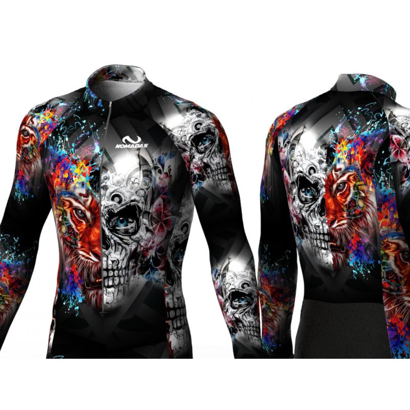 Skull-Tiger skating suit for women men boys girls