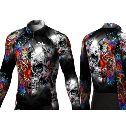 Skull-Tiger Cycling suit for women men boys girls
