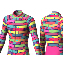 Colorful bricks Cycling suit for men women boys girls