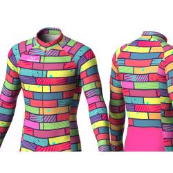 Colorful bricks green skating suit for boys, girls, men, women