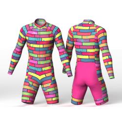 Colorful bricks Lycra para patinaje nomadas para mujer hombre niño niña