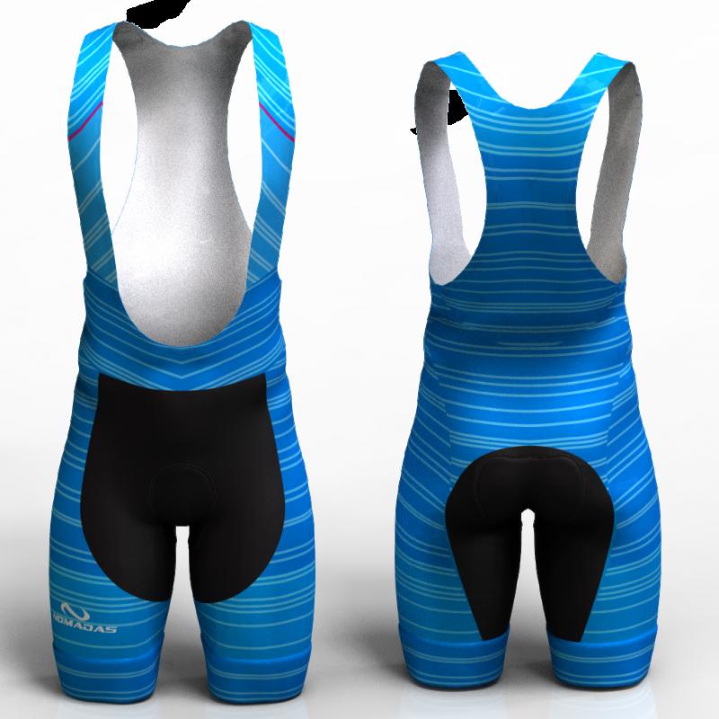 STRIPES BLUE pantaloneta de ciclismo nomadas para hombre y mujer