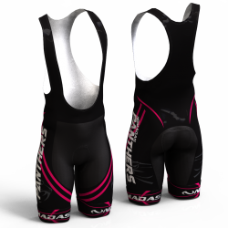 Panther fuchsia cycling shorts bibs