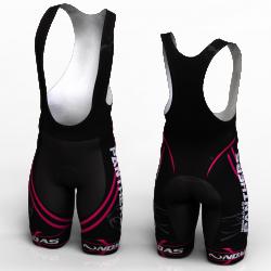 Panther fuchsia cycling shorts bibs