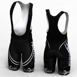 Panther blanco pantalon de ciclismo nomadas para mujeres y hombres