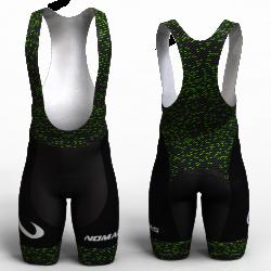 Fiber carbon verde pantalon de ciclismo nomadas para mujeres y hombres