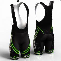 Panther verde pantalon de ciclismo nomadas para mujeres y hombres