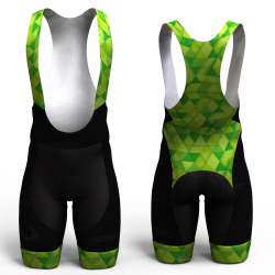 Green triangles pantalon de ciclismo nomadas para hombres y mujeres