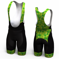 Green triangles Cycling shorts for women and men