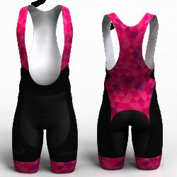 fucsia triangles pantalon de ciclismo nomadas para mujeres y hombres