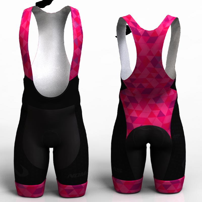 Fuchsia triangles Cycling shorts women and men