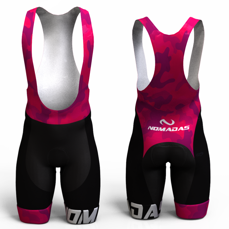 Camuflado fucsia pantalon de ciclismo nomadas para mujeres y hombres