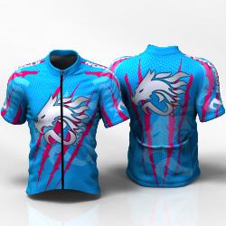 DRAGON FORCE BLUE FUCHSIA Camiseta jersey de ciclismo para mujer y hombre nomadas
