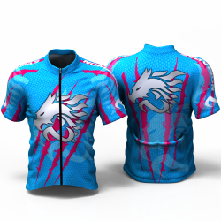 DRAGON FORCE BLUE FUCHSIA Cycling Jersey women and men