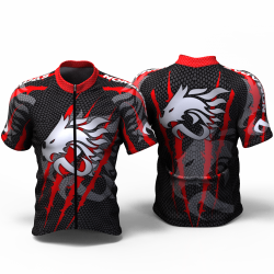 DRAGON FORCE RED Cycling Jersey women and men