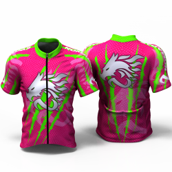 DRAGON FORCE NEON GREEN-FUCHSIA  Cycling Jersey women and men