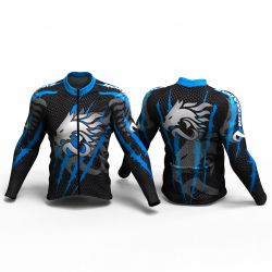 DRAGON FORCE BLUE  Cycling Jersey women and men