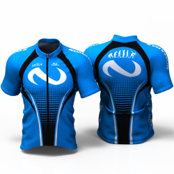 Evolution blue Cycling Jersey women and men