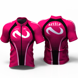 evolution fuchsia Cycling Jersey women and men