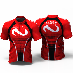 Flyke red Camiseta jersey de ciclismo para mujer y hombre nomadas