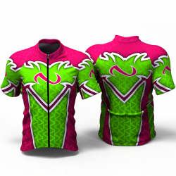 Abstract triangles neon-green Cycling Jersey women and men