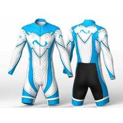 ABSTRACT TRIANGLES BLUE skating suit for boys, girls, men, women