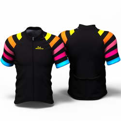 BLACK RAINBOW  Cycling Jersey women and men