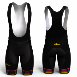 BLACK RAINBOW  Cycling Shorts for women and men