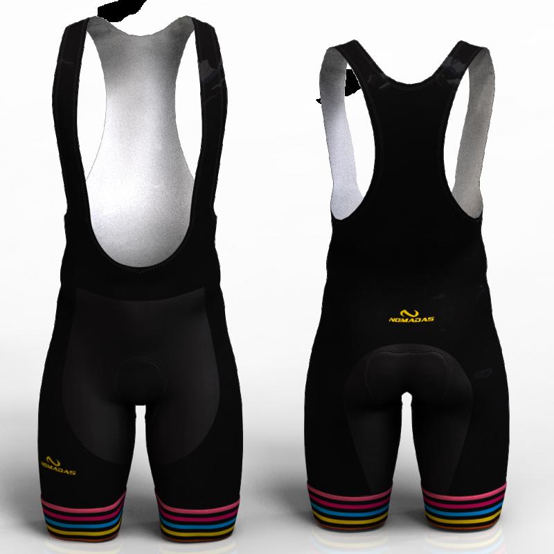 BLACK RAINBOW  pantaloneta de ciclismo nomadas para hombre y mujer